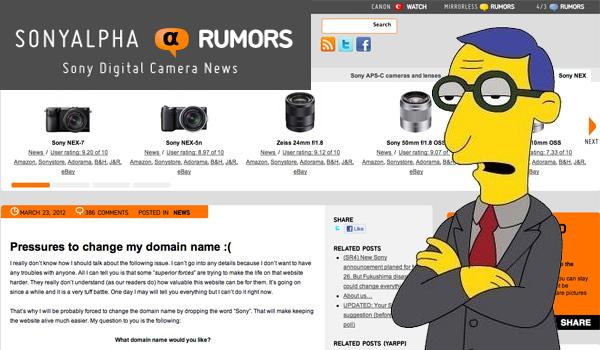 Sony Targets SonyAlphaRumors com, Wants Them to Shut Down