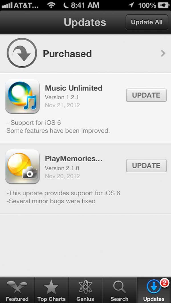 Music Unlimited and PlayMemories Online with iOS 6 support