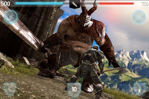 Infinity Blade II on iOS