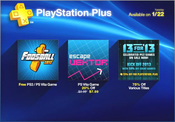 PlayStation Store Update 01-23-13