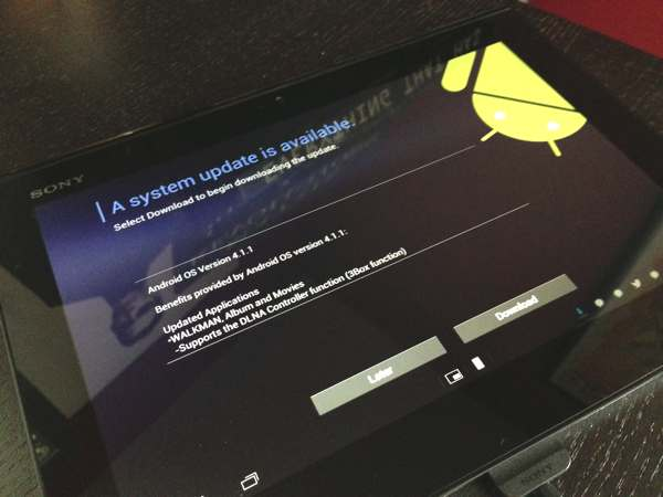 Sony Xperia Tablet S Jelly Bean 4.1.1