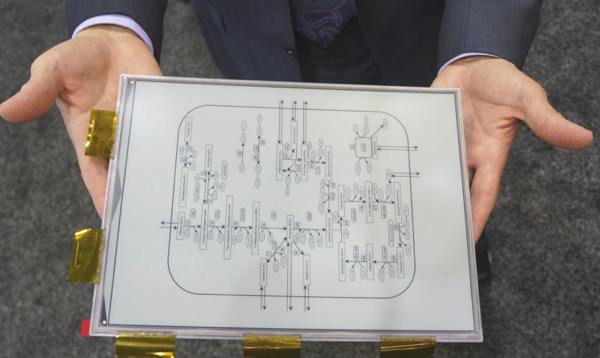 Sony E-ink Tablet Display Demo