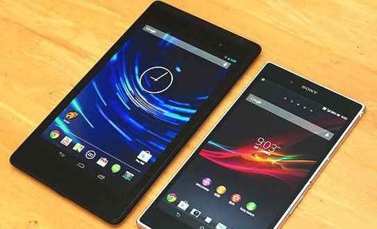 Nexus 7 vs Xperia Ultra Z