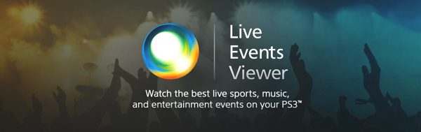 PS3 Live Events Viewer App