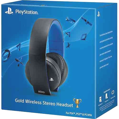 Leaked Gold Wireless Stereo Headset For Playstation 4