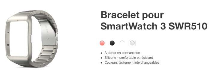 sony stainless steel smartwatch 3 wrist strap swr510. Black Bedroom Furniture Sets. Home Design Ideas