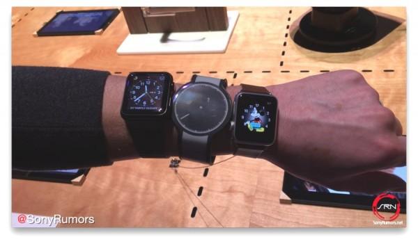 CES 2016 - Sony FES Watch Size vs. Apple Watch