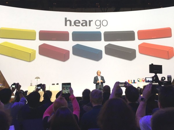 CES 2016 - Sony h.ear go Bluetooth Hi-Res Speaker Reveal
