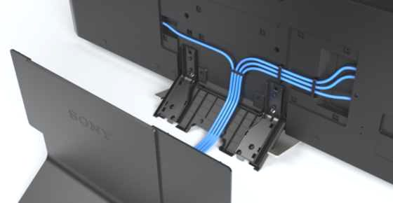 Wire Management Systems | New Cable Management System Allows For Cleaner Setup On Sony S 4k