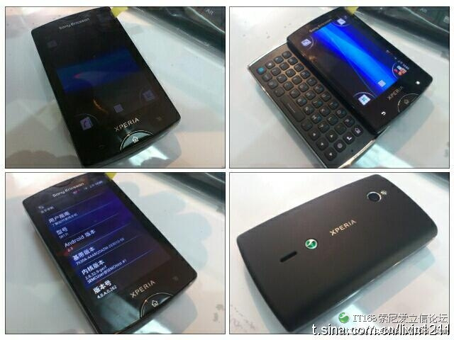 The Successor of The SonyEricsson Xperia Mini Pro Poses before The Cameras